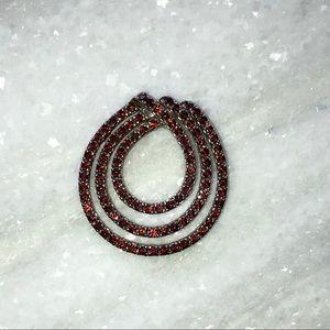 Jewelry - Garnet Sterling Silver pendant